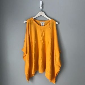 Michael Kors Yellow Cold Shoulder Sweater